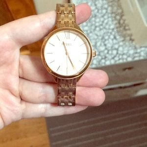 Rose Gold 14mm Fossil Watch